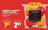 Farmer's Market Sweet Peppers - Pkg Of 4