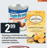 Twinings Or Celestial Tea - 20's Or Eagle Brand Condensed Milk - 300 Ml