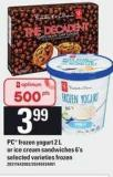 PC Frozen Yogurt - 2 L Or Ice Cream Sandwiches - 6's
