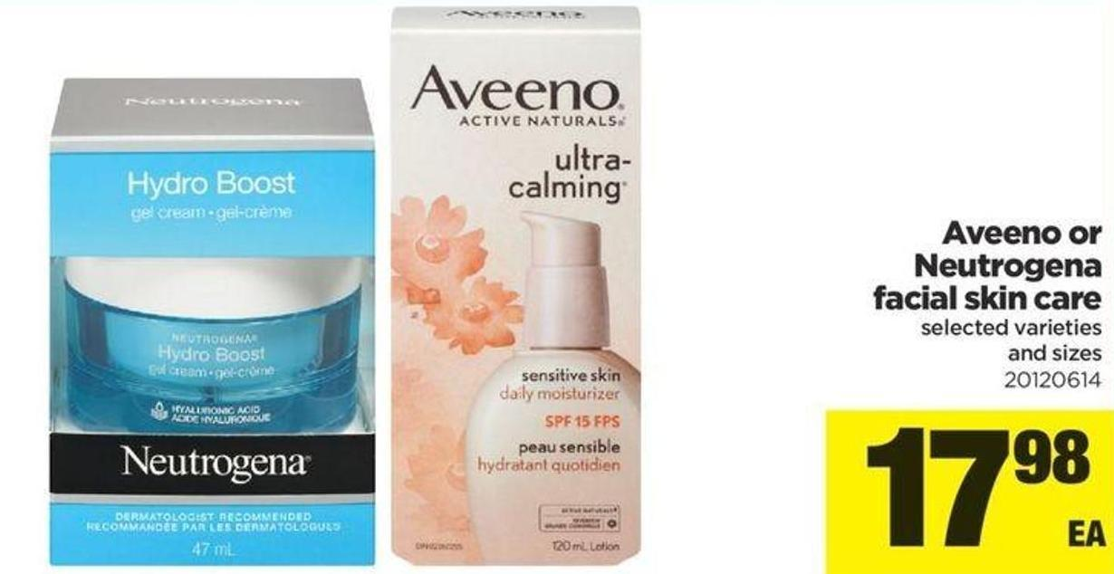 Aveeno Or Neutrogena Facial Skin Care