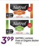Natrel Lactose Free or Organic Butter