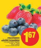 Strawberries - 1 Lb or Organic Blueberries - 6 Oz