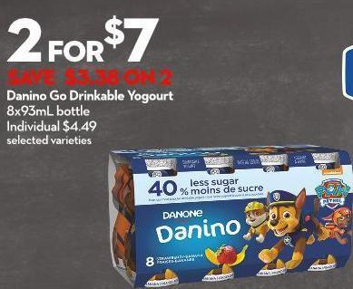 Danino Go Drinkable Yogourt 8x93ml Bottle
