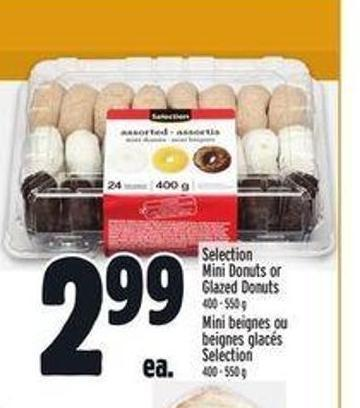 Selection Mini Donuts or Glazed Donuts