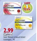 Sore Throat & Nasal Relief Lozenges  16