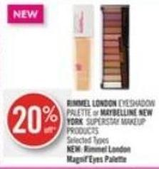 Rimmel London Eyeshadow Palette or Maybelline New York Superstay Makeup Products