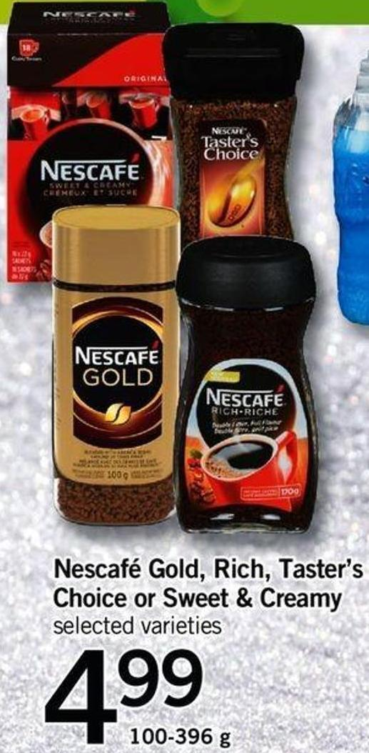 Nescafé Gold - Rich - Taster's Choice Or Sweet & Creamy - 100-396 G