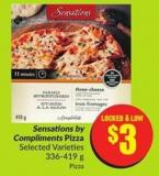 Sensations By Compliments Pizza Selected Varieties 336-419 g