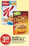 Kellogg's Special K - General Mills Cheerios or Kids Cereals