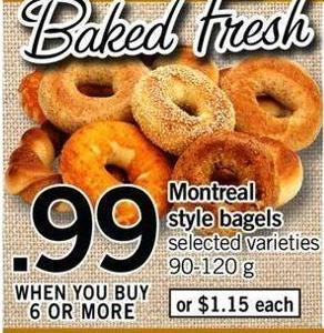 Montreal Style Bagels - 90-120 G