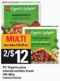 PC Organics Pizza - 340-400 G