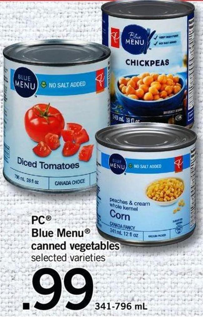 PC Blue Menu Canned Vegetables - 341-796 Ml