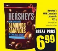 Hershey's Milk Chocolate Almonds 900 g