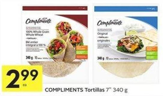 Compliments Tortillas 7'' 340 g