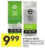 Ethical Bean Coffee Ground 227 g - Beans 340 g or Pods 132 g