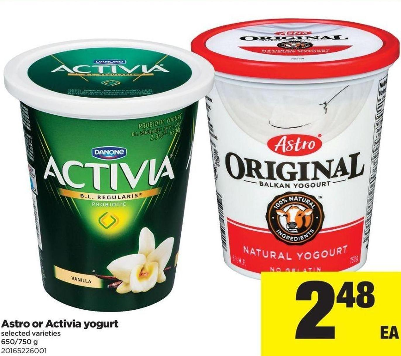 Astro Or Activia Yogurt - 650/750 g