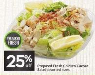 Prepared Fresh Chicken Caesar Salad