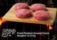 Fresh Medium Ground Chuck Burgers