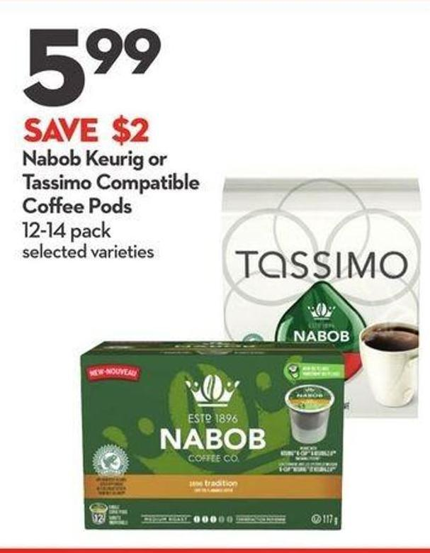Nabob Keurig or Tassimo Compatible Coffee Pods