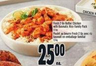 Fresh 2 Go Butter Chicken With Basmati Rice Family Pack 1.5 Kg