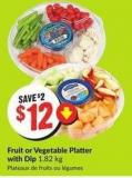 Fruit or Vegetable Platter With Dip 1.82 Kg