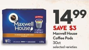 Maxwell House Coffee Pods 30ct