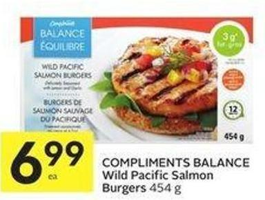 Compliments Balance Wild Pacific Salmon Burgers