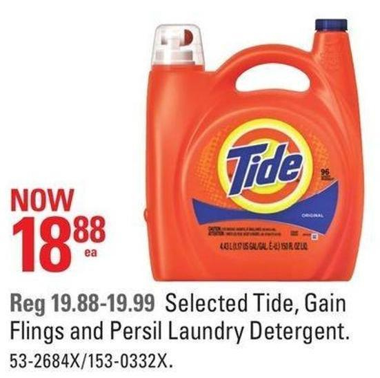 Selected Tide - Gain Flings and Persil Laundry Detergent