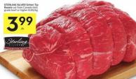 Sterling Silver Sirloin Tip Roasts Cut From Canada Aaa Grade Beef or Higher