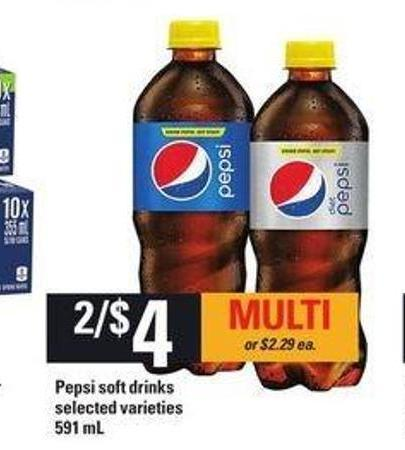 Pepsi Soft Drinks - 591 mL