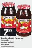 Smucker's Double Fruit Spread - 390-500 Ml