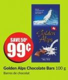 Golden Alps Chocolate Bars 100 g