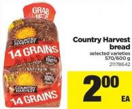 Country Harvest Bread - 570-600 g