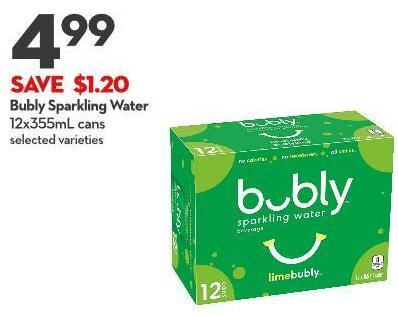 Bubly Sparkling Water 12 X 355 mL on sale | Salewhale ca