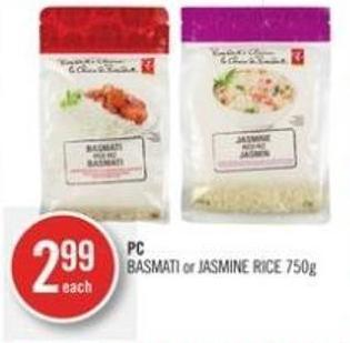 PC Basmati or Jasmine Rice 750g