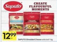 Saputo Shredded Cheese -40 Bonus Air Miles