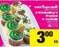 Mini Cupcakes Pkg Of 12 Or Kimberley's Frosted Cookies Pkg Of 10