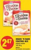 Shake 'N Bake Coating Mix - 140-184 g
