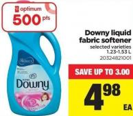 Downy Liquid Fabric Softener - 1.23/1.53 L