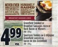 Greenfield Smoked Or Breakfast Sausages
