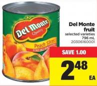 Del Monte Fruit - 796 mL