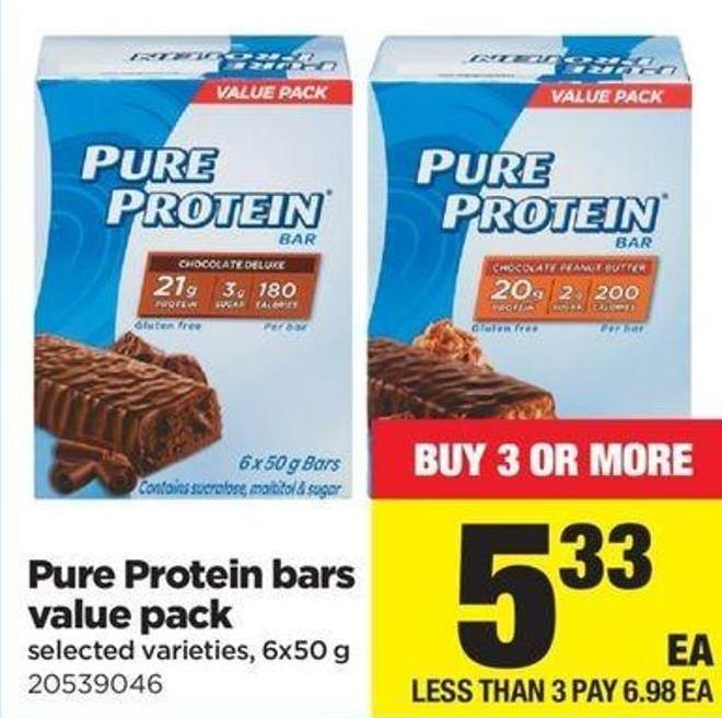Pure Protein Bars Value Pack - 6x50 G