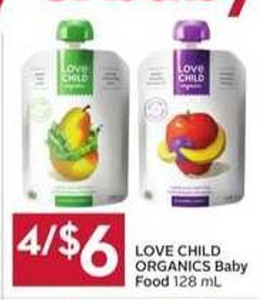 Love Child Organics Baby Food