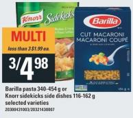 Barilla Pasta 340-454 g Or Knorr Sidekicks Side Dishes 116-162 g