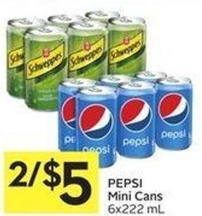 Pepsi Mini Cans 6x222 ml
