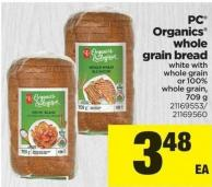 PC Organics Whole Grain Bread - 709 g