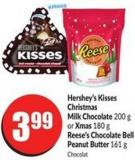 Hershey's Kisses Christmas Milk Chocolate 200 g or Xmas 180 g Reese's Chocolate Bell Peanut Butter 161 g