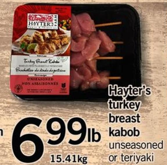 Hayter's Turkey Breast Kabob - 15.41kg