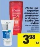 L'oréal Hair Expertise Shampoo Or Conditioner Or Stying Or Studio Line Styling