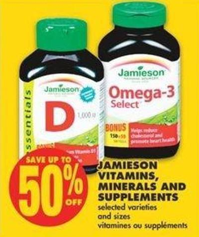 Jamieson Vitamins - Minerals And Supplements